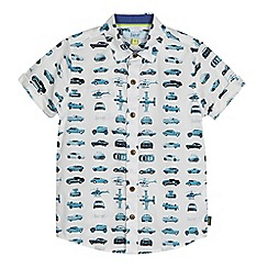 Baker by Ted Baker - Boys' blue car print shirt