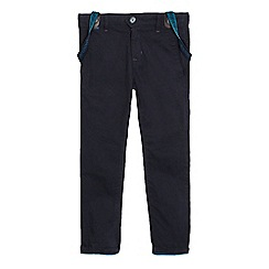 Baker by Ted Baker - Boys' navy textured trousers and braces set