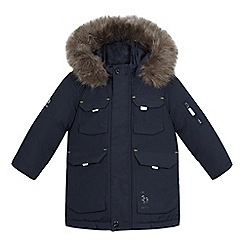 Baker by Ted Baker - Boys' navy showerproof parka coat