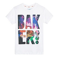 Baker by Ted Baker - Boys' white photographic logo print t-shirt