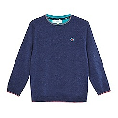 Baker by Ted Baker - Boys' navy merino wool jumper