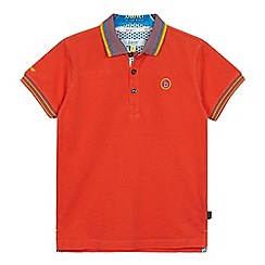 Baker by Ted Baker - Boys' orange tipped polo shirt