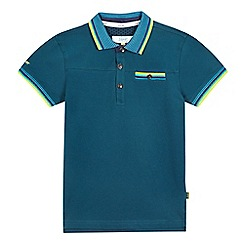 Baker by Ted Baker - Boys' dark green striped polo shirt