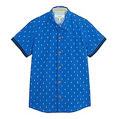 Baker by Ted Baker - Boys' blue short sleeve button down shirt