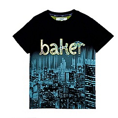 Baker by Ted Baker - Boys' navy city print t-shirt