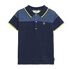 Baker by Ted Baker - Boys' blue merino wool blend polo shirt