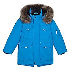 Baker by Ted Baker - Boys' blue showerproof parka coat