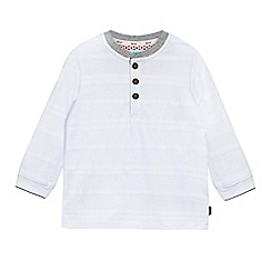 Baker by Ted Baker - Boys' white textured stripe granddad top