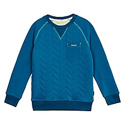 Baker by Ted Baker - Boys' dark turquoise quilted jumper