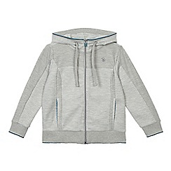 Baker by Ted Baker - Boys' grey hooded zip through sweater