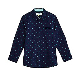 Baker by Ted Baker - Boys' navy square print shirt