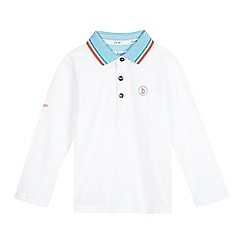 Baker by Ted Baker - Boys' white long sleeve polo shirt