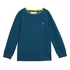 Baker by Ted Baker - Boys' dark turquoise ottoman jumper