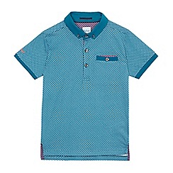 Baker by Ted Baker - Boys' blue geometric print polo shirt