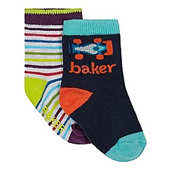 Baker by Ted Baker - Pack of two baby boys' assorted socks