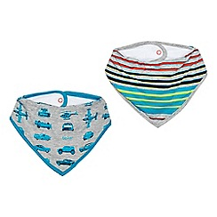 Baker by Ted Baker - Pack of two baby boys' assorted printed bibs