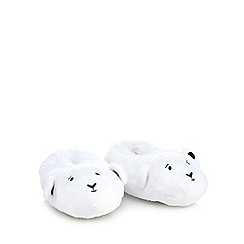 Baker by Ted Baker - Baby boys' white polar bear slippers