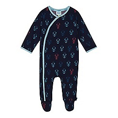 Baker by Ted Baker - Baby boys' navy bear print sleepsuit