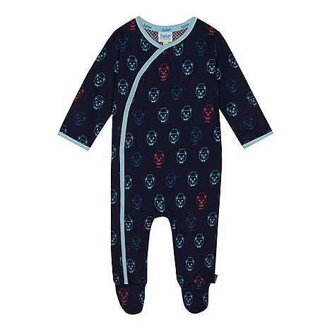 Baker by Ted Baker - Baby boys+ navy bear print sleepsuit