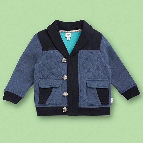 Baker by Ted Baker - Babies blue quilted sweat jacket