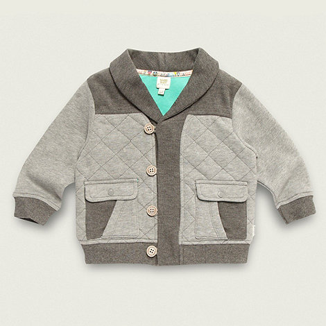 Baker by Ted Baker - Babies grey quilted sweat jacket