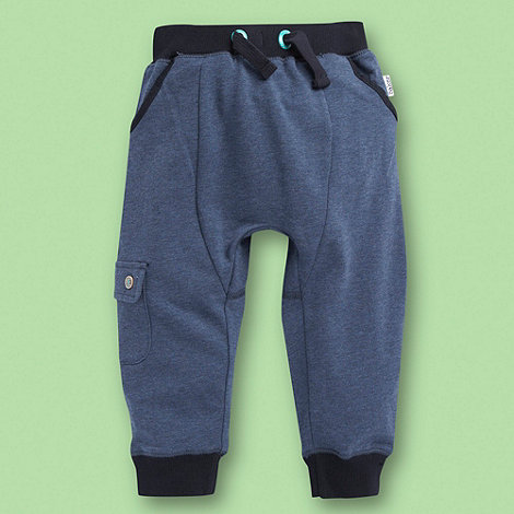 Baker by Ted Baker - Babies blue marl sweat jogging bottoms