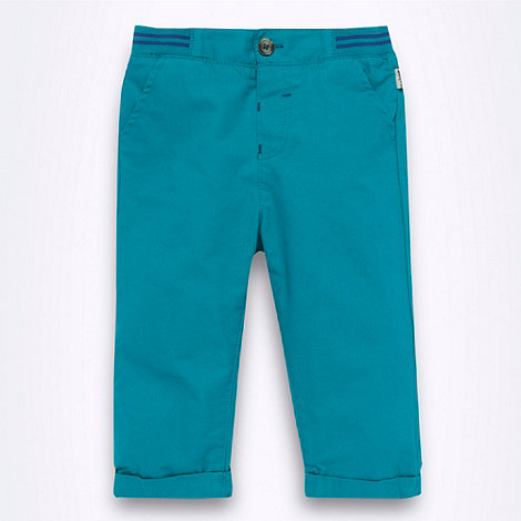 Baker by Ted Baker - Babies dark turquoise ribbed waistband slim leg trousers