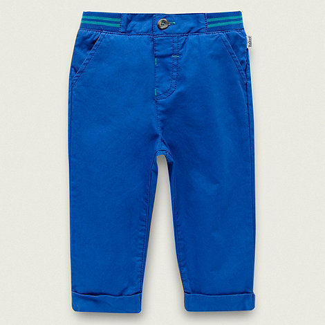 Baker by Ted Baker - Babies blue ribbed waistband slim leg trousers