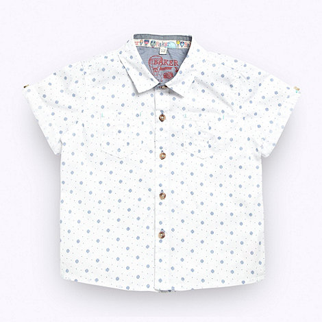 Baker by Ted Baker - Boy+s white spot print shirt