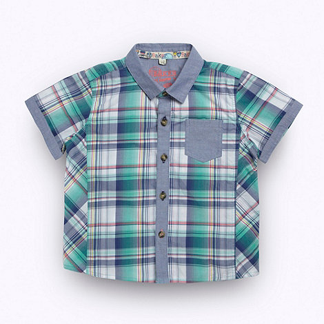 Baker by Ted Baker - Babies multi check short sleeved shirt