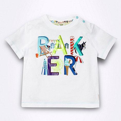 Baker by Ted Baker - Babies white +seaside+ logo t-shirt