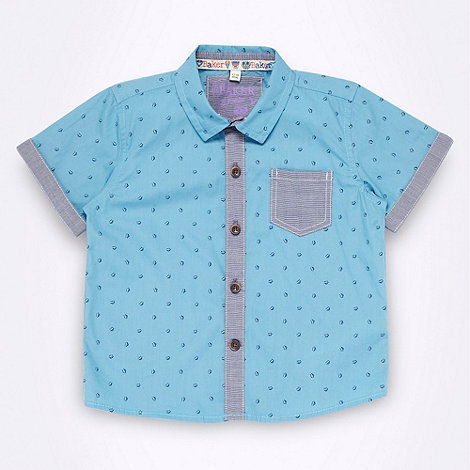 Baker by Ted Baker - Babies blue cloud patterned shirt