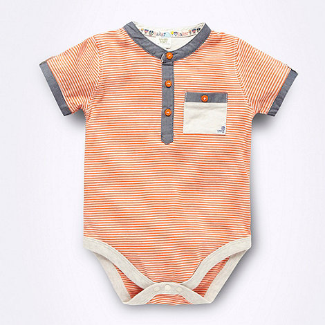 Baker by Ted Baker - Babies orange striped bodysuit