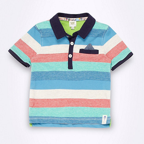 Baker by Ted Baker - Babies navy striped polo shirt