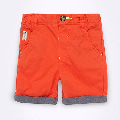 Baker by Ted Baker - Babies orange chino shorts