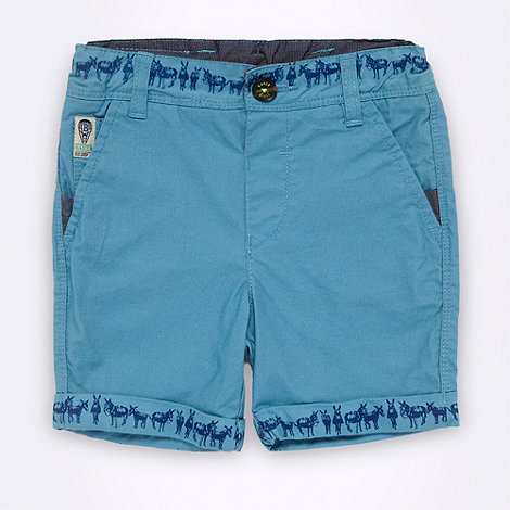 Baker by Ted Baker - Babies blue donkey printed shorts