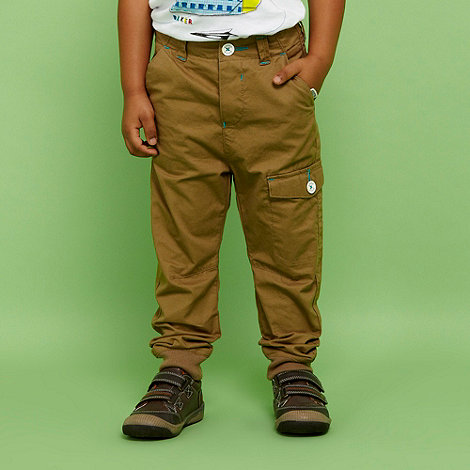 Baker by Ted Baker - Boys+ tan ribbed cuffed chino trousers