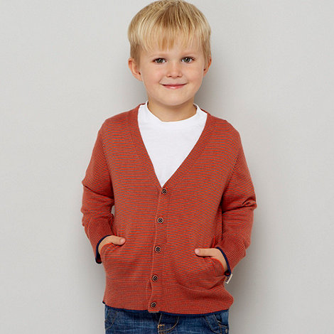 Baker by Ted Baker - Boy+s red cardigan and t-shirt set