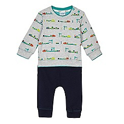 Baker by Ted Baker - Baby boys' grey train print sweater and jogger set