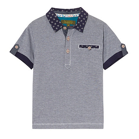 Baker by Ted Baker - Boy+s blue pique polo top