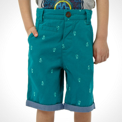 Baker by Ted Baker - Boy's turquoise embroidered lightbulb shorts