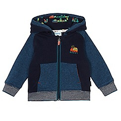Baker by Ted Baker - Baby boys' navy zip-through hooded sweatshirt