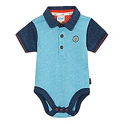 Baker by Ted Baker - Baby boys' blue polo collar bodysuit