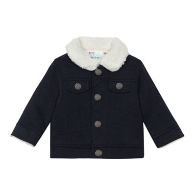 Baker by Ted Baker Baby boys navy shearling jacket