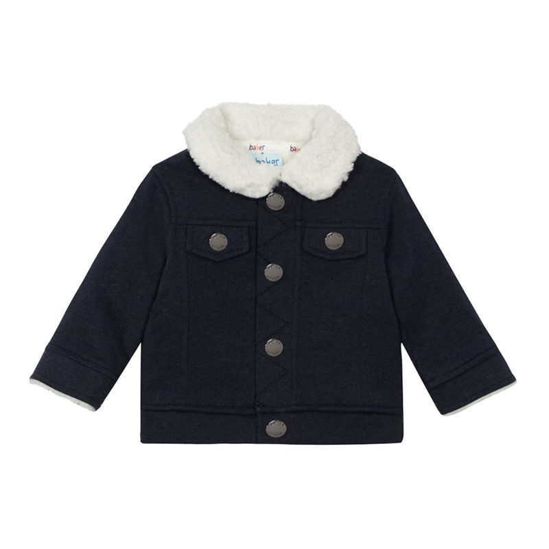 Baker by Ted Baker Baby Boys Navy (Blue) Shearling Jacket,