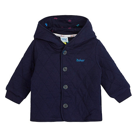 Baker by Ted Baker - Baby boys+ navy quilted animal ears hooded jacket