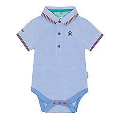 Baker by Ted Baker - Baby boys' light blue polo collar bodysuit