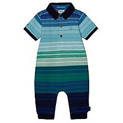 Baker by Ted Baker - Baby boys' multi-colour stripe polo romper