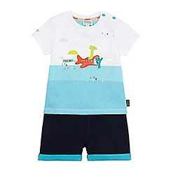 Baker by Ted Baker - Baby boys' navy airplane graphic top and shorts