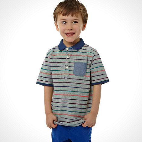 Baker by Ted Baker - Boy+s grey racked stripe polo top